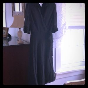 Talbots Pure Silk Faux Wrap Dress 8